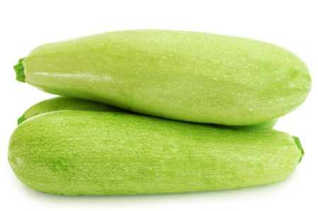 zucchini vegetables close-up isolated on white background