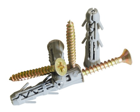 Expansion anchors, fixing dowel. Stock Photo