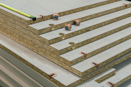 board chipboard cut parts Banco de Imagens