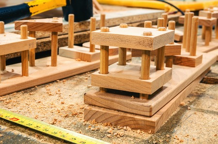Carpentry workshop for the manufacture of wooden toys 스톡 콘텐츠 - 122267075