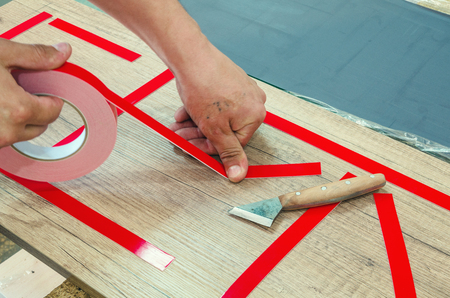 Double-sided tape, the master prepares the part for further sticking the mirror