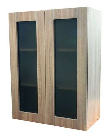 Wooden cabinet furniture on a white background