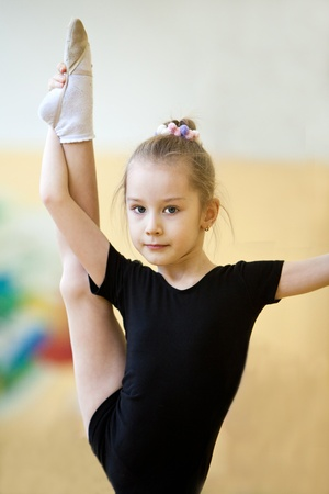tights: The young gymnast