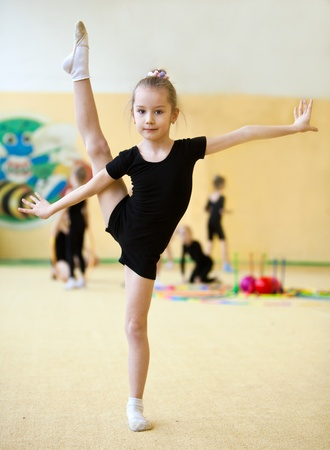 The young gymnast Stock Photo - 9387545