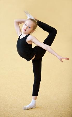 rhythmic: The young gymnast