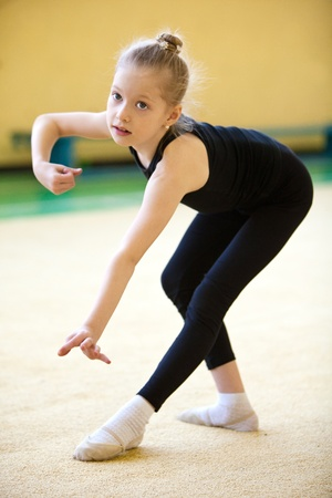 The young gymnast Stock Photo - 9387583
