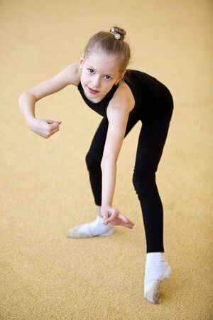 The young gymnast Stock Photo - 9387607