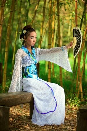 asia nude: Japanese dreams Stock Photo