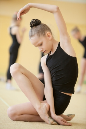 the gymnast: young gymnast Stock Photo