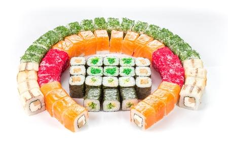 comida rápida: comida r�pida - la cocina japonesa Foto de archivo