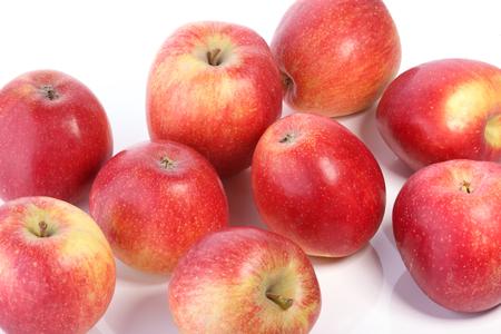 Rote Äpfel auf dem weißen Hintergrund Standard-Bild