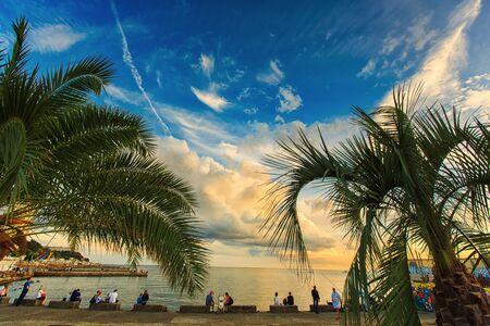 beautiful sky on the Black Sea coast