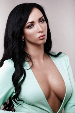 sexy girl in a glamorous style Standard-Bild