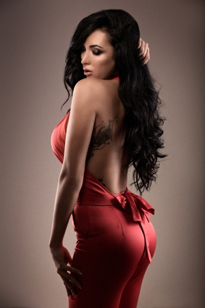 Sexy girl in a glamorous style