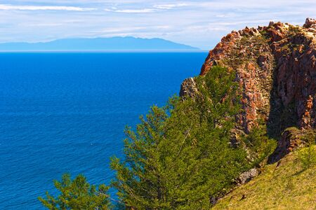 spaciousness: Northern coast of island Olkhon on lake Baikal