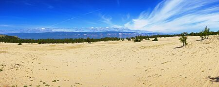 spaciousness: Panorama of the western coast of island Olkhon on lake Baikal about settlement Huzhir