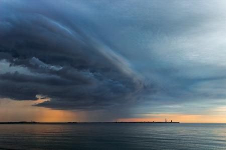 extremity: Thunderstorm over Menshikovs Headland on a southern extremity of Novaya Zemlya