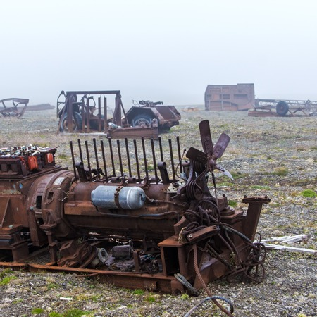 technics: The abandoned technics on the thrown frontier post on Menshikovs headland in the south of Novaya Zemlya