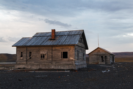 The trading station a Litke constructed in 1903 in a bay a Litke on Southern island of archipelago Novaya Zemlya