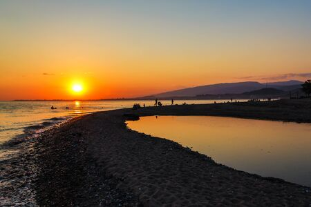 sukhumi: Beach Sinop in capital of Abkhazia Sukhumi on a decline