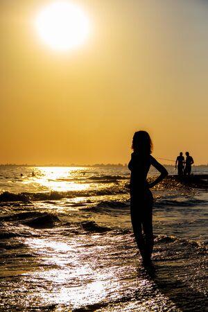 sukhumi: Beach Sinop in capital of Abkhazia Sukhumi Stock Photo