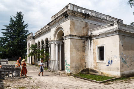 sukhumi: The thrown building in capital of Abkhazia Sukhumi