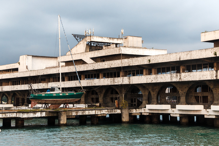 sukhumi: Marina building in capital of Abkhazia Sukhumi Editorial