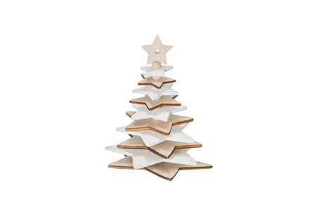 Christmas Tree Decoration Isolated on a White Background Stock Photo