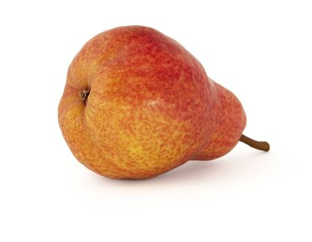 Pears Duchess yellow with bright red barrels on a white background with a delicious aroma 版權商用圖片