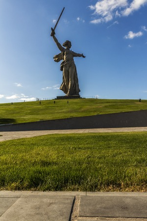Motherland monument in Stalingrad,statue of mother homeland Stock Photo