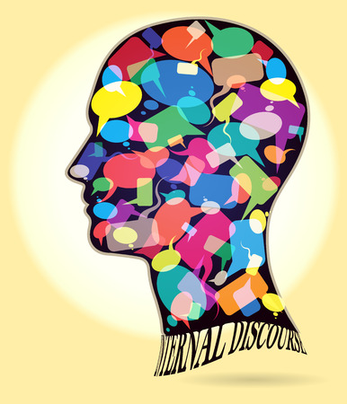 Head Profiles dialogue Symbols Illustration