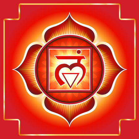 chakra energy: Chakra Muladhara Illustration