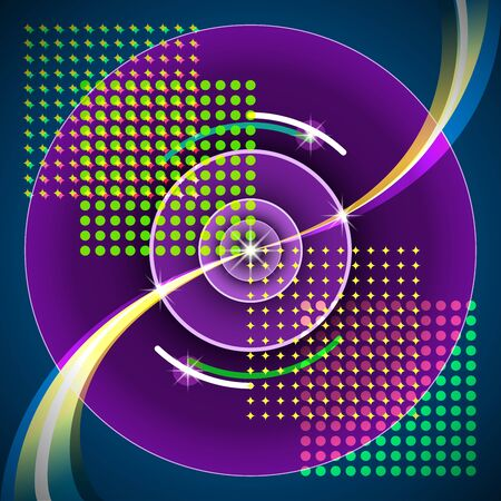 disco symbol: Abstract background decorative design element reminiscent of the speaker and sound waves