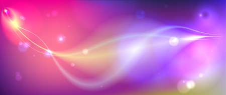 Decorative abstract space background. Vector subtle blurry glowing bokeh backgrounds with glitter. A letter size. Illustration