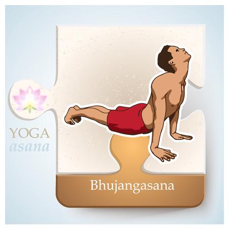 bhujangasana: Exercise of yoga practice, yoga postures or yoga positions: Asana -  Bhujangasana