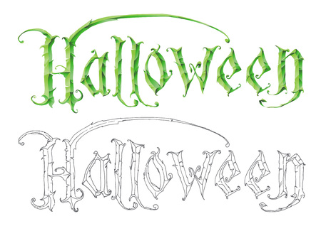 The word halloween hand drawing template for the design and the word halloween hand drawing template for the design and royalty free cliparts vectors and stock illustration image 44294876 maxwellsz