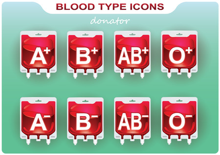 indicate: Templates icons to indicate the blood group in infographics Illustration