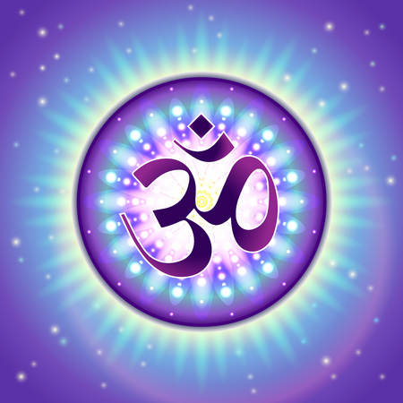 absolute: Colorful, detailed illustration of Vedic Om symbol - sacred sound and a spiritual icon.