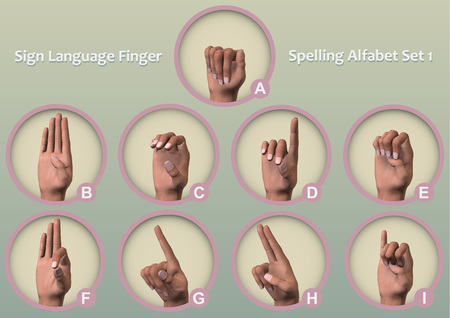fingerspelling: A set of symbol icons Fingerspelling - manual alphabets (also known as finger alphabets or hand alphabets) is the representation of the letters of a writing system.