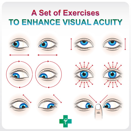 crystalline lens: Ophthalmic allowance. Medical a visual aid set of exercises to increase visual acuity.