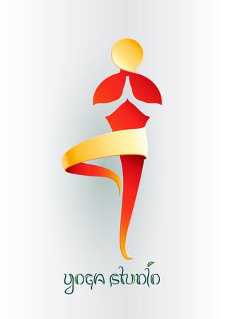 자세 요가 남자 로고 디자인 벡터 템플릿을 연습. 생태 건강한 자연의 라이프 스타일 로고 개념 아이콘입니다. 요가 스튜디오.