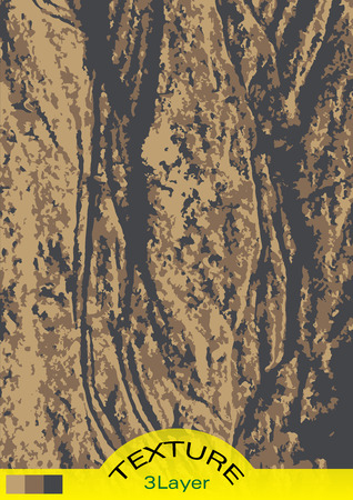 water flows: Vector illustration texture of sand. Three layer texture showing traces of water flows in the sand. Illustration