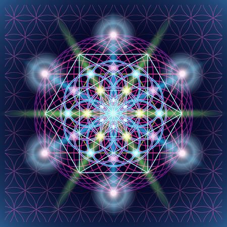 Flower of life symbol variations.