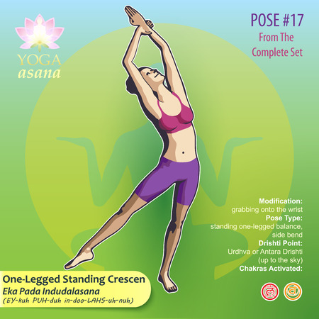 Illustration of Yoga Exercises with full text description