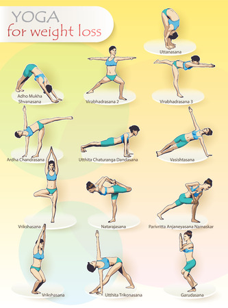 Yoga Exercises Complex Of Asanas For Weight Loss 13 Female Figures