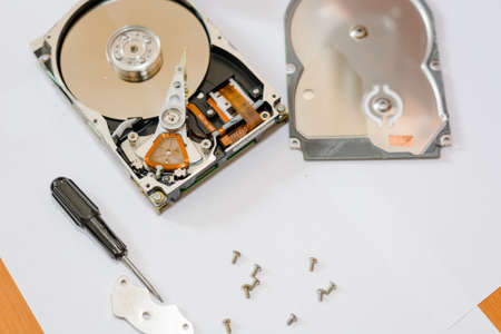 To disassemble a hard drive. To repair a chip or the chip.