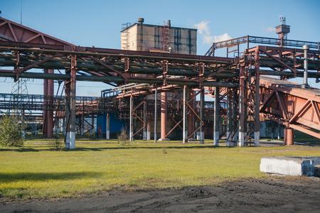 Steel works. General plan of the plant. Big plant. Coke plant. NLMK.