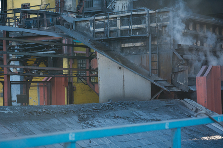 smelting plant: Steel works. General plan of the plant. Big plant. Coke plant. Stock Photo