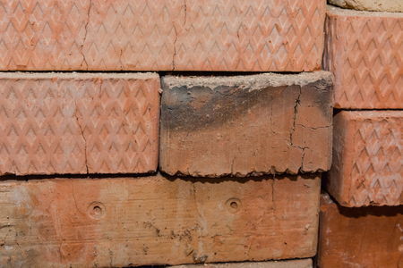 Brick close up. Background brick. Different bricks. Red brick