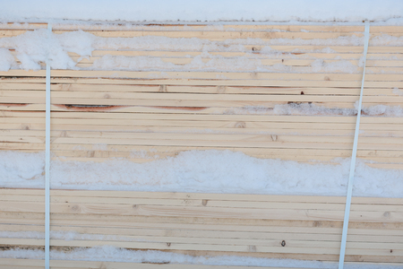 View of the stack of boards. Boards closeup and wood texture.
